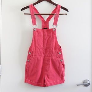 NWT BDG Urban Outfitters Pink Denim Overalls